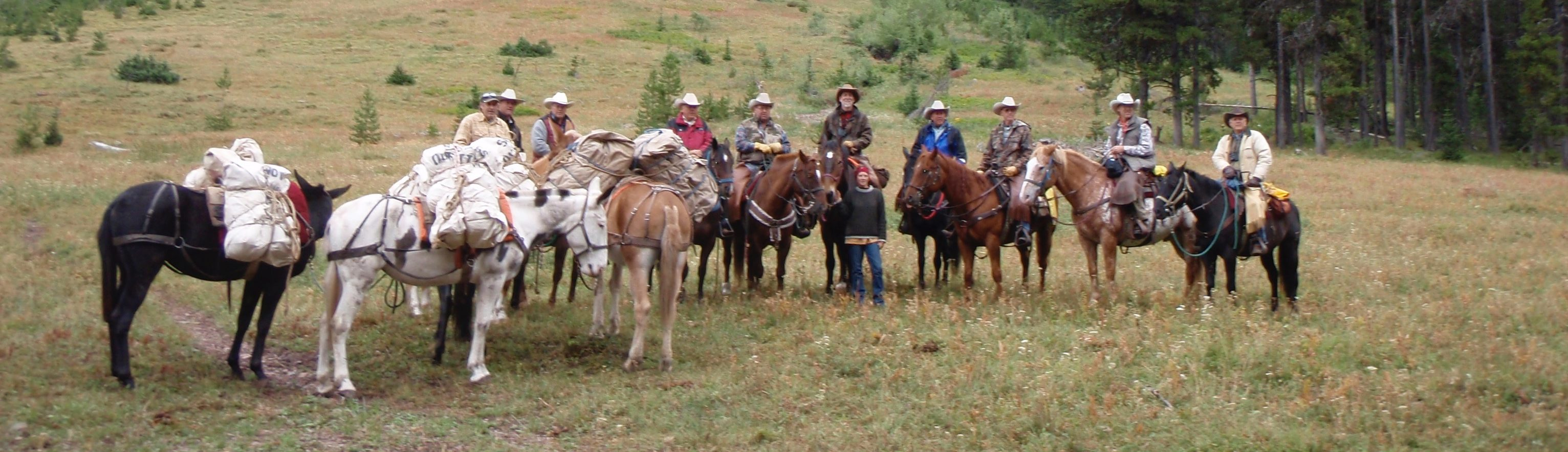 Montana wilderness horseback pack trips near Glacier National Park